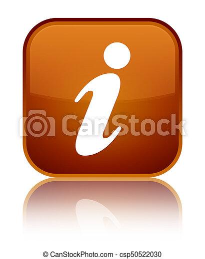 Info icon special brown square button - csp50522030