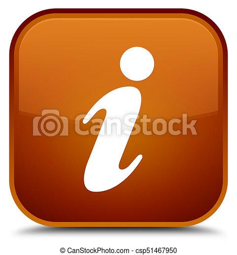 Info icon special brown square button - csp51467950