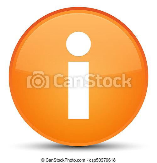 Info icon special orange round button - csp50379618