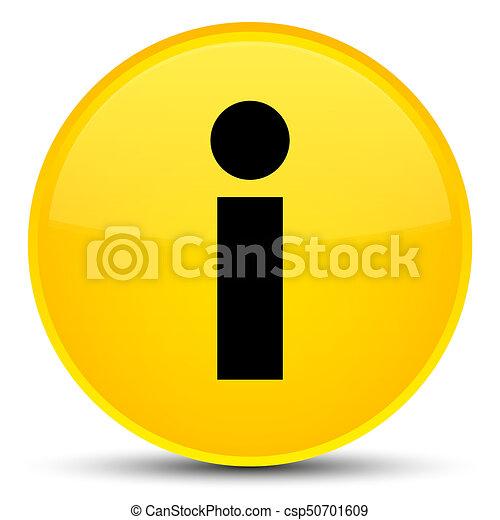 Info icon special yellow round button - csp50701609
