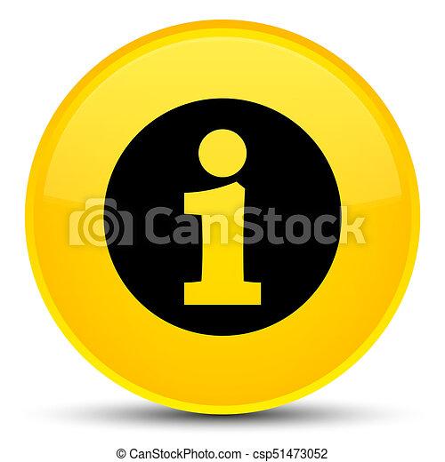 Info icon special yellow round button - csp51473052