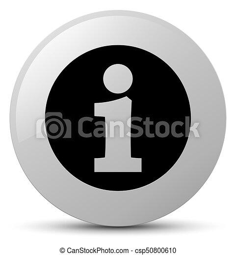 Info icon white round button - csp50800610