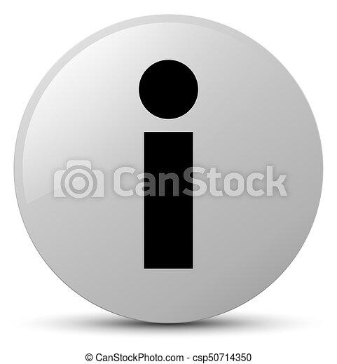 Info icon white round button - csp50714350