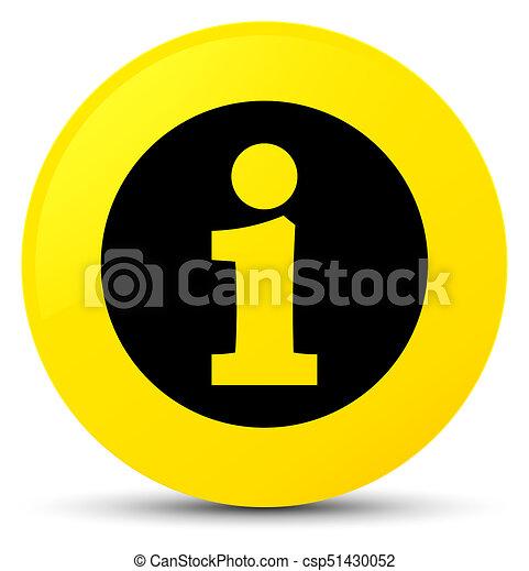 Info icon yellow round button - csp51430052