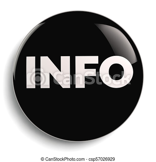 Info Round Black Symbol Icon - csp57026929
