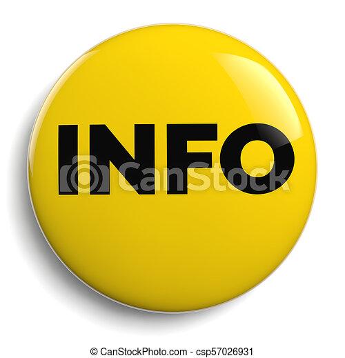 Info Round Yellow Symbol Icon - csp57026931