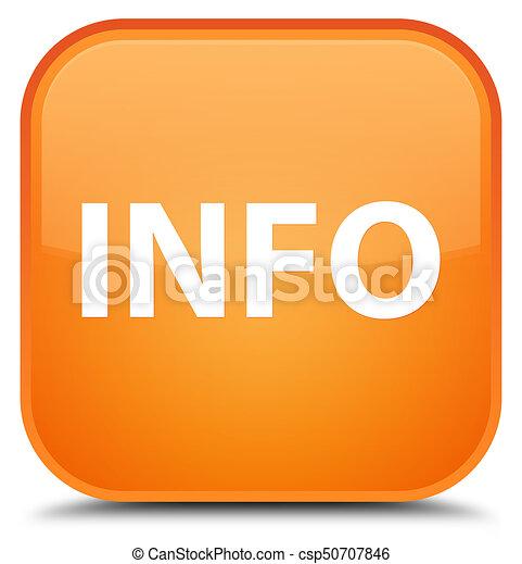 Info special orange square button - csp50707846