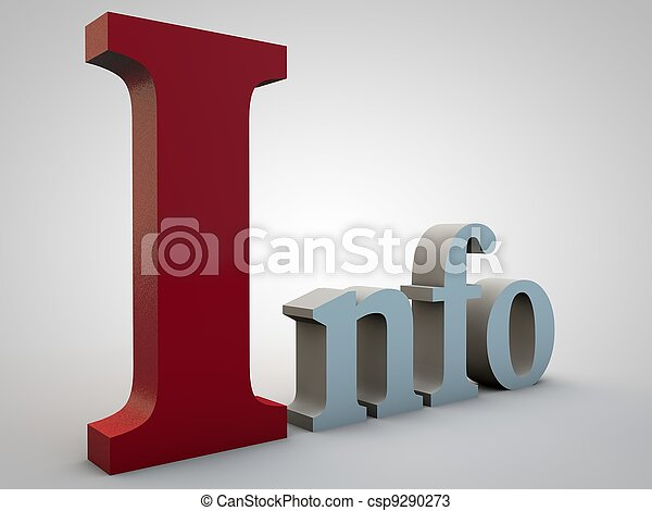 Info, stands for Information over gray gradient background - csp9290273