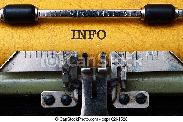 info, text, skrivmaskin - csp16261528