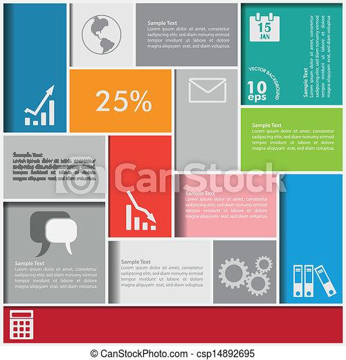infographic, čtverhran, grafické pozadí - csp14892695