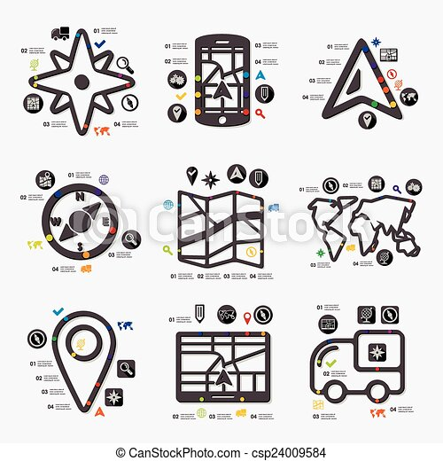 infographic, ナビゲーション - csp24009584