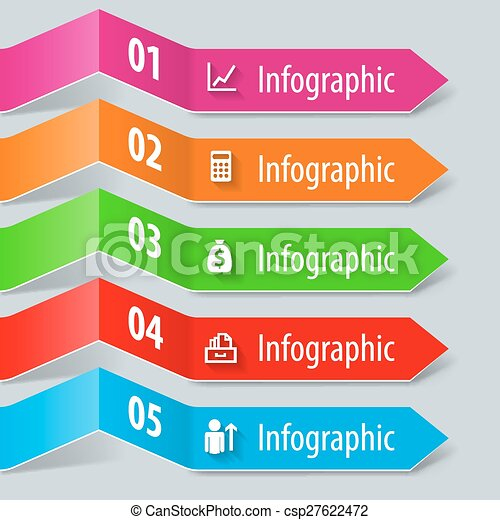 infographic, ペーパー - csp27622472