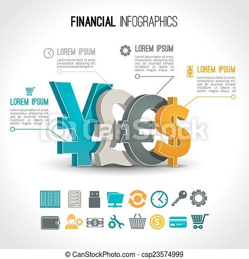 infographic, 放置, 金融 - csp23574999