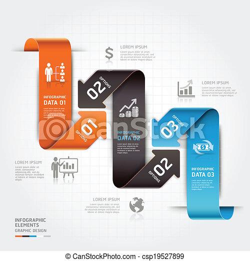 infographic., affaires modernes, flèche - csp19527899