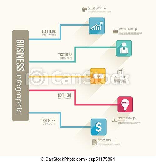 Infographic Business Flowchart Template - csp51175894