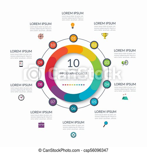 Infographic circle 10 options steps parts business concept for infographic circle 10 options steps parts business concept for diagram graph cheaphphosting Choice Image