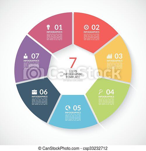 Infographic circle banner vector template with 7 steps parts infographic circle banner vector template with 7 steps parts options ccuart Image collections