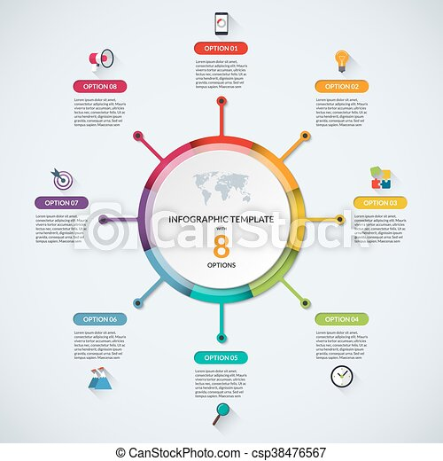 Infographic circle diagram template with 8 options infographic infographic circle diagram template with 8 options csp38476567 ccuart Choice Image