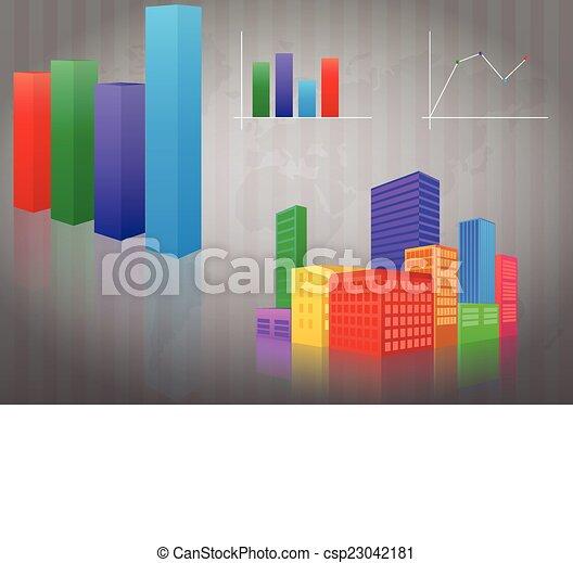 infographic city - csp23042181