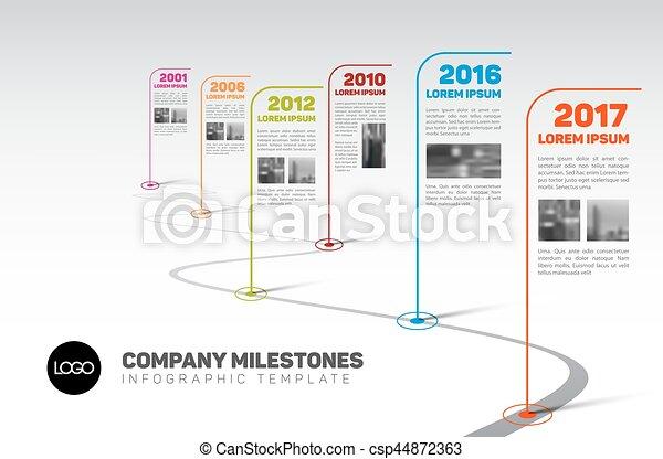 Vector Infographic Company Milestones Timeline Template With - Graphic timeline template