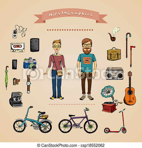 infographic, concept, hipster - csp18552062