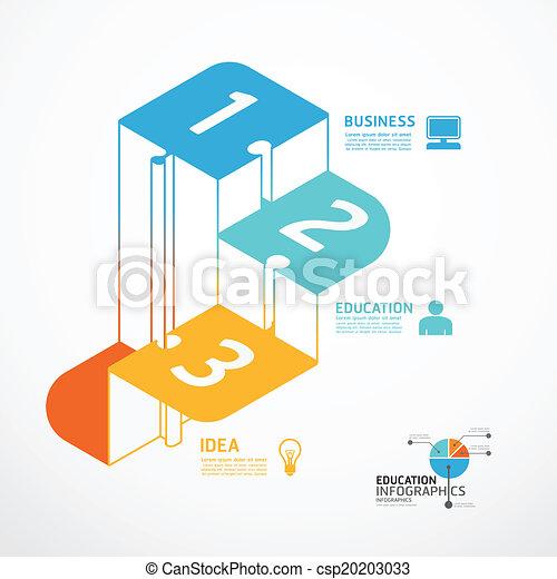 infographic, concept, jigsaw, illustratie, stap, vector, mal, spandoek - csp20203033