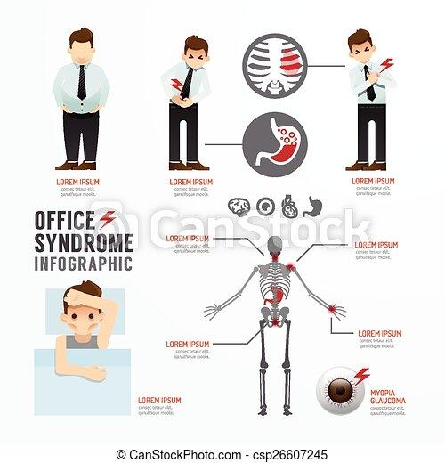 infographic, concept, syndrome, bureau, illustration, vecteur, conception, gabarit - csp26607245