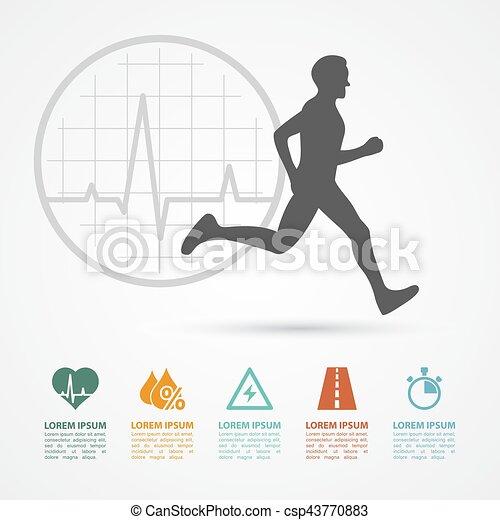 infographic, condicão física - csp43770883