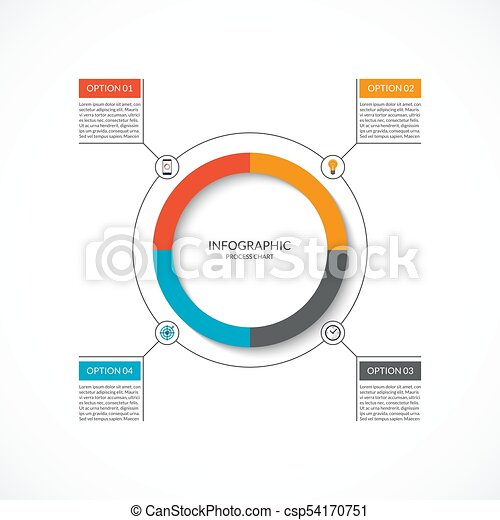 Infographic cycle diagram process chart with 4 options vector infographic cycle diagram process chart with 4 options vector circle template for business infographics can be used for graph presentation report ccuart Images