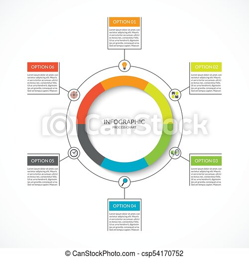 Infographic cycle diagram process chart with 6 options vector infographic cycle diagram process chart with 6 options vector circle template for business infographics can be used for graph presentation report ccuart Images
