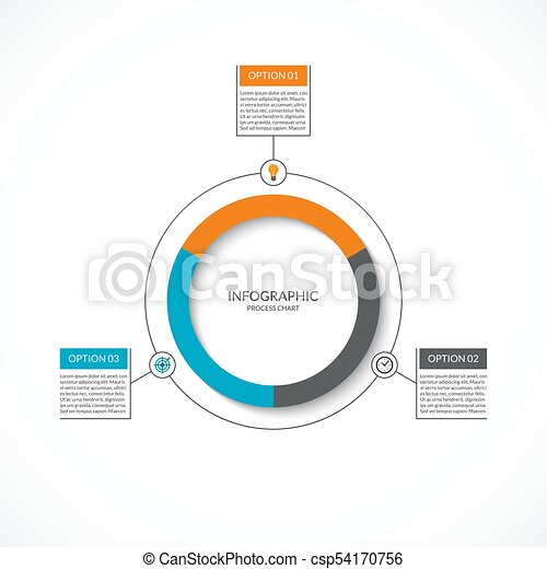 Infographic cycle diagram process chart with 3 options vector infographic cycle diagram process chart with 3 options vector circle template for business infographics can be used for graph presentation report ccuart Images