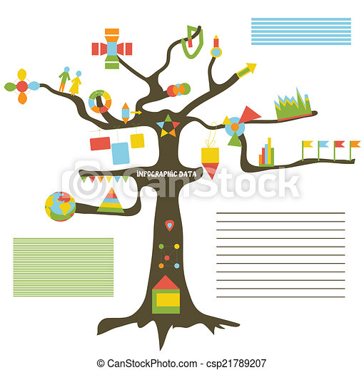 Infographic Data On The Tree Presentation Template