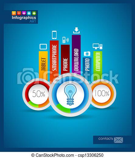 Infographic design - original paper  - csp13306250