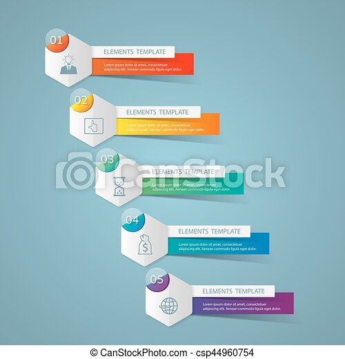 Infographic design template and marketing icons business concept infographic design template and marketing icons business concept with 5 options csp44960754 accmission Images