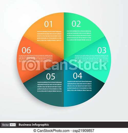 Infographic design with circles for business - csp21909857