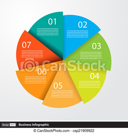 Infographic design with circles for business - csp21909922