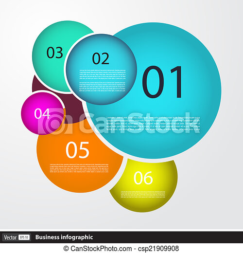 Infographic design with circles for business - csp21909908