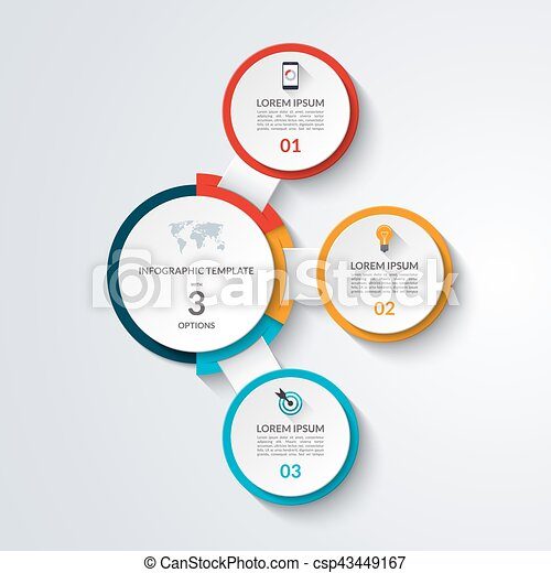 Infographic diagram template 3 options business concept vector infographic diagram template 3 options business concept vector banner for graph chart report presentation web design maxwellsz
