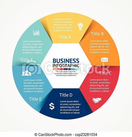 Infográfico, diagrama, 6 pasos, opciones - csp23281034