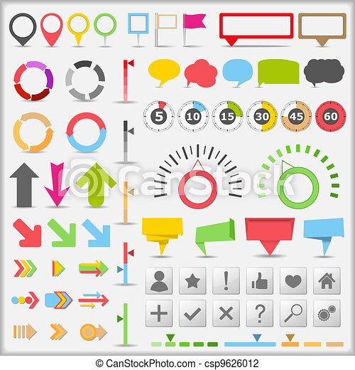 infographic, elementi - csp9626012