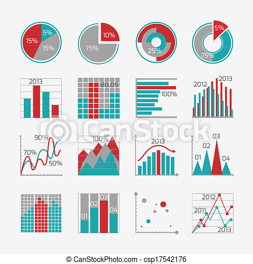 Infographic elements for business report - csp17542176