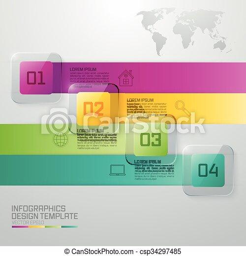 Mercado comercial Infográfico - csp34297485
