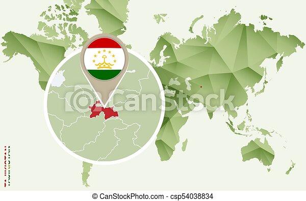 Infographic For Tajikistan Detailed Map Of Tajikistan With - Tajikistan map vector