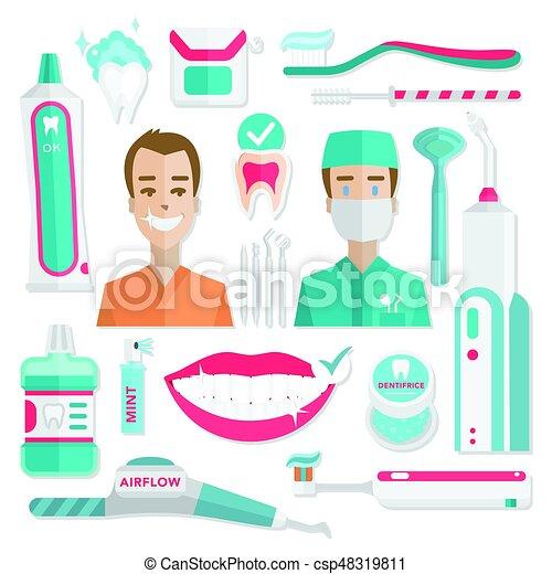 Informática de higiene dental médica. - csp48319811