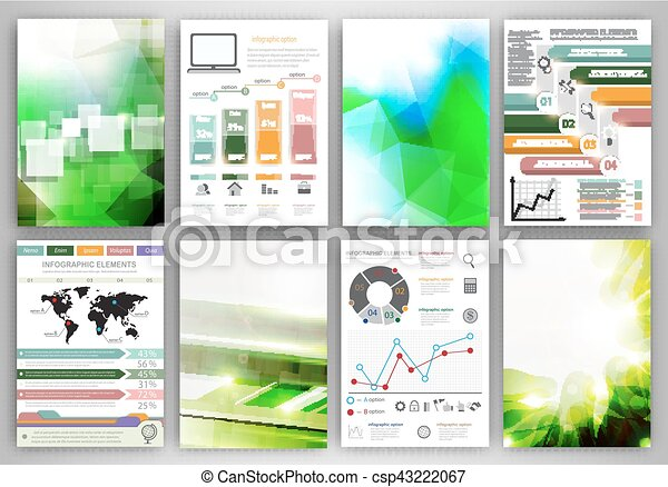 Infographic icons and backgrounds - csp43222067