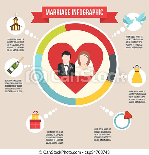 infographic, małżeństwo, ślub - csp34703743