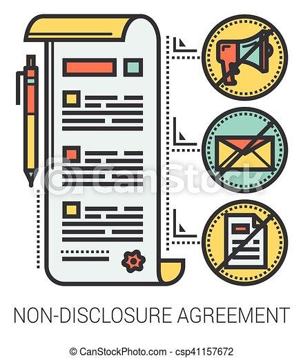 infographic., niet-onthulling, lijn, overeenkomst - csp41157672
