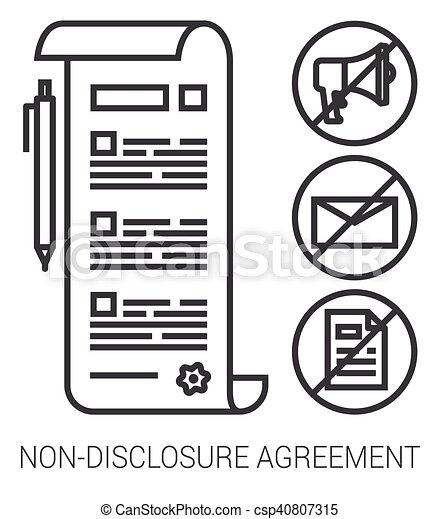 infographic., niet-onthulling, lijn, overeenkomst - csp40807315