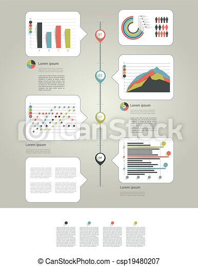 Infographic page with charts and te - csp19480207