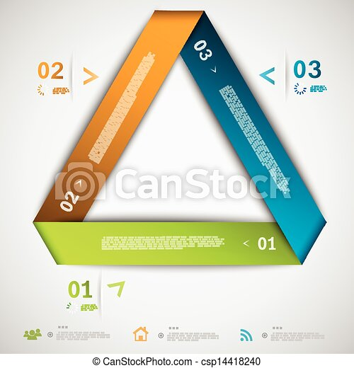 Infographic paper triangle template - csp14418240